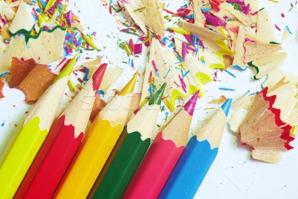 Colored pencils and trash Stock photo © Novic