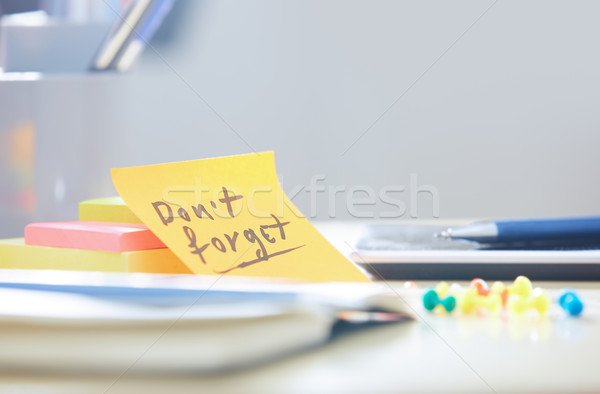Do not forget text on adhesive note Stock photo © Novic