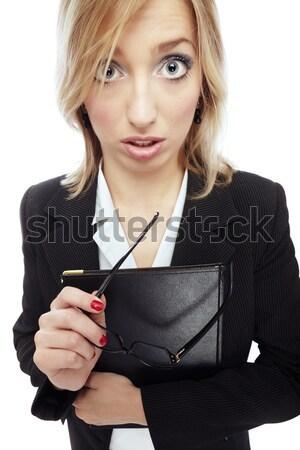 Zakenvrouw portret mislukte bril Stockfoto © Novic