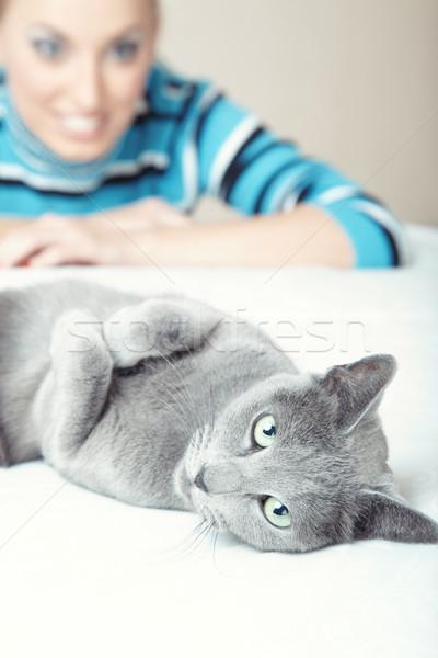 Love my cat Stock photo © Novic