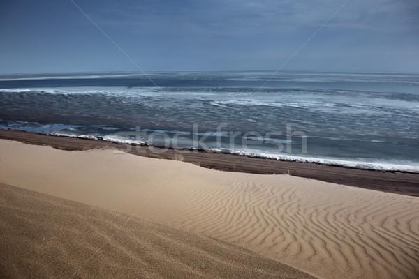 Zee woestijn zanderig horizontaal foto strand Stockfoto © Novic