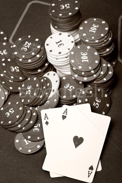 Old poker Stock photo © Novic