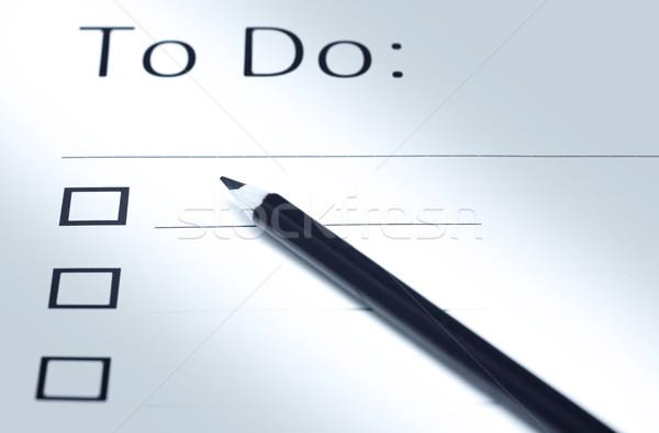 Stock photo: To do list