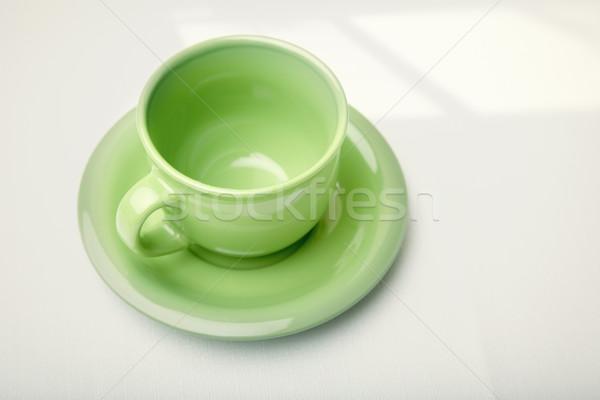 зеленый чайная чашка таблице тень кухне чай Сток-фото © Novic