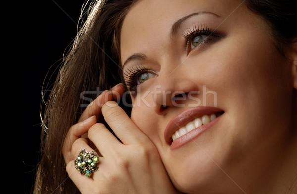 Glad lady with ring Stock photo © Novic
