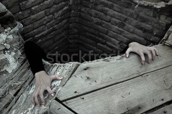 Me mãos pessoa fora velho Foto stock © Novic