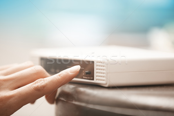 Wireless modem Stock photo © Novic