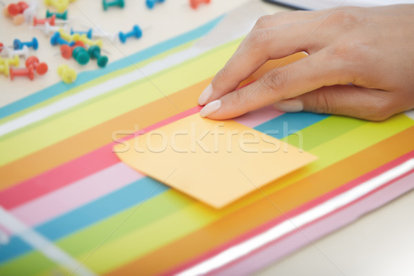 Sticky note with empty space Stock photo © Novic
