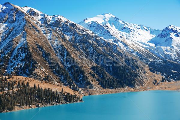 Morena lago Canadá parque água paisagem Foto stock © Novic