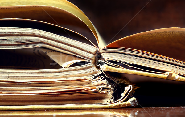 Old papers and books Stock photo © Novic
