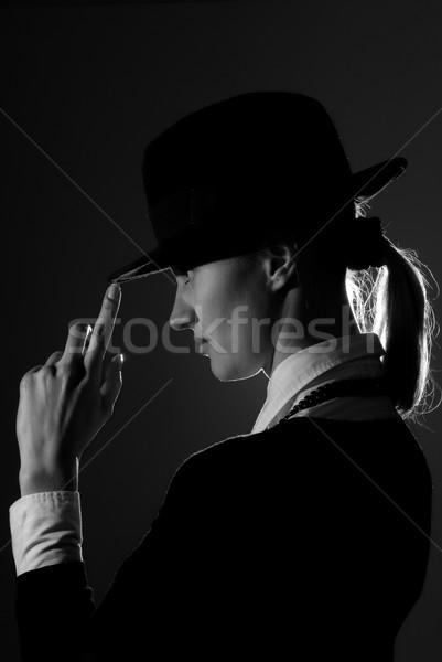 Black and white busineeswoman Stock photo © Novic