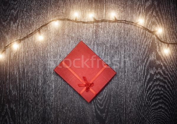 クリスマス 光 ギフトボックス ハードウッド デザイン 冬 ストックフォト © Novic