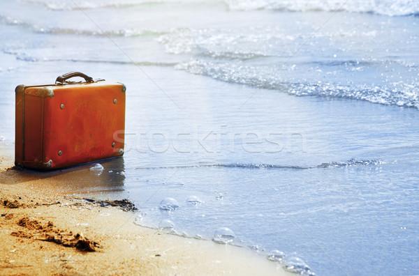 Loneliness on the beach Stock photo © Novic