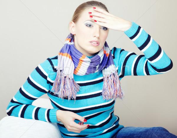 горе печально больным женщину сидят Сток-фото © Novic