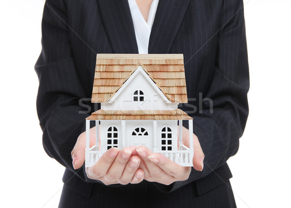 Woman Holding New Home Stock photo © nruboc