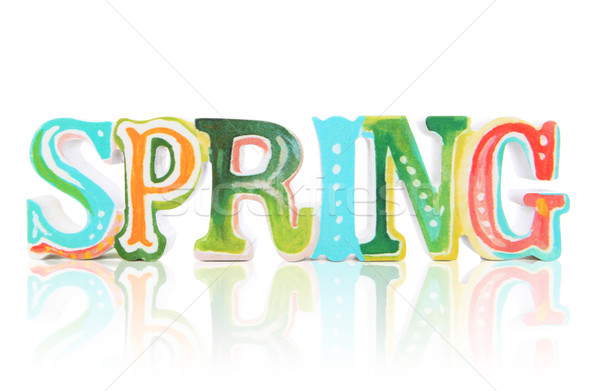 Colorful Spring Sign Stock photo © nruboc