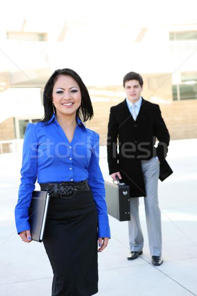 Bella asian donna d'affari giovani ufficio business Foto d'archivio © nruboc