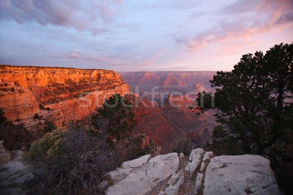 グランドキャニオン 日没 表示 風景 砂漠 旅行 ストックフォト © nruboc