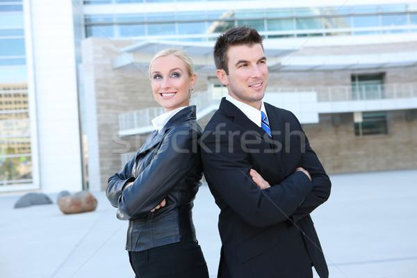 Anziehend Business-Team jungen Geschäftsmann Frau Team Stock foto © nruboc