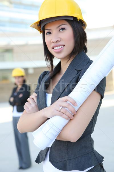 女性 ビジネス 2 かなり 作業 建設現場 ストックフォト © nruboc