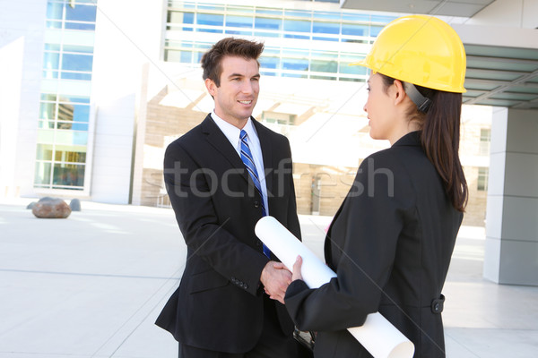 Business Man and Construction Woman Stock photo © nruboc