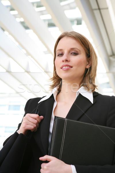 Schönen business woman ziemlich Büro Gebäude Stock foto © nruboc