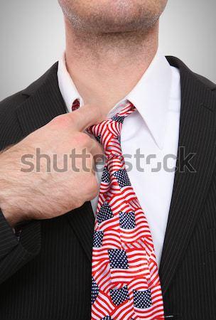 Republikański człowiek biznesu kongres człowiek symboliczny tie Zdjęcia stock © nruboc