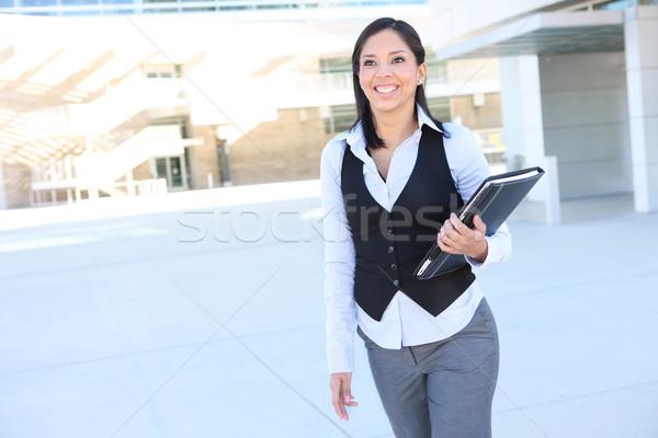 Latino business woman ziemlich Kundendienst Bürogebäude Business Stock foto © nruboc