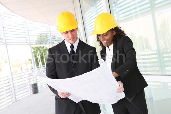 Business bouw team man vrouw Stockfoto © nruboc