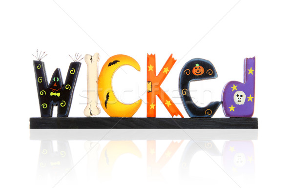 Halloween Wicked Sign Stock photo © nruboc