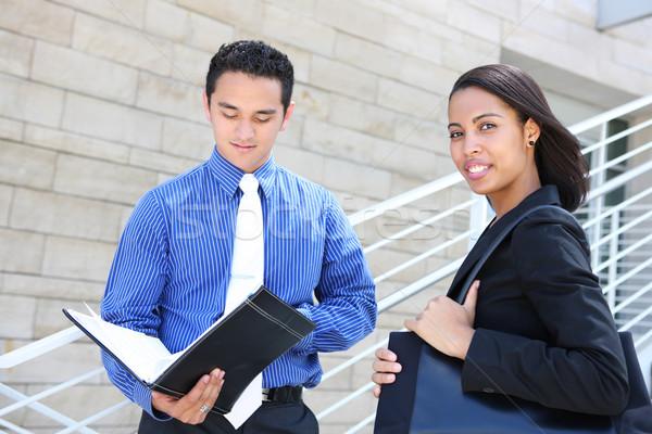 équipe commerciale immeuble de bureaux homme femme société Photo stock © nruboc