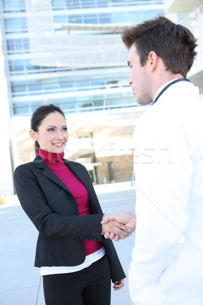 Doctor and Patient Handshake Stock photo © nruboc