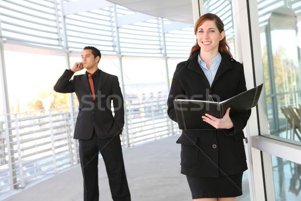 魅力的な ビジネスチーム オフィスビル 男 女性 会社 ストックフォト © nruboc