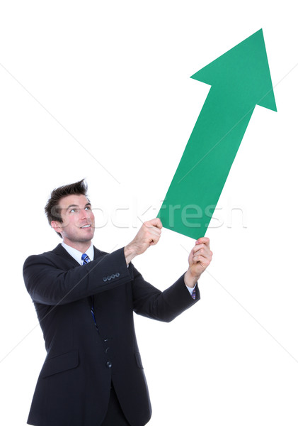 Business Man Arrow Up Stock photo © nruboc