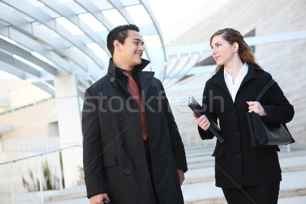Attractive  Business Team at Office Building Stock photo © nruboc