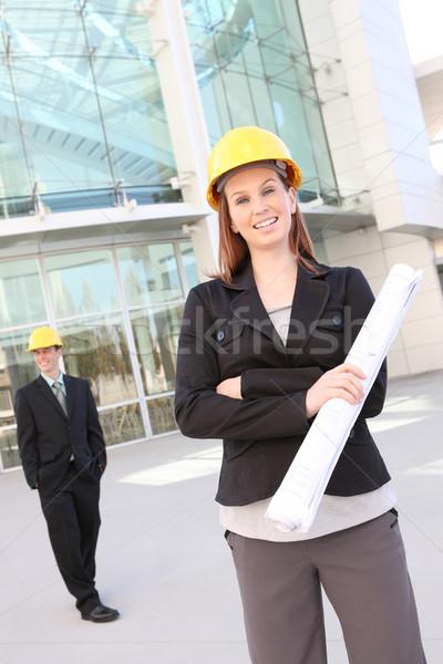男 女性 建設 建物 建設現場 業界 ストックフォト © nruboc