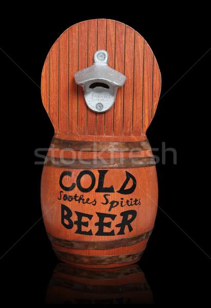 Ahşap bira soğuk konteyner Stok fotoğraf © nruboc
