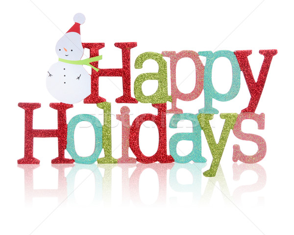 Happy Holidays Sign Stock photo © nruboc
