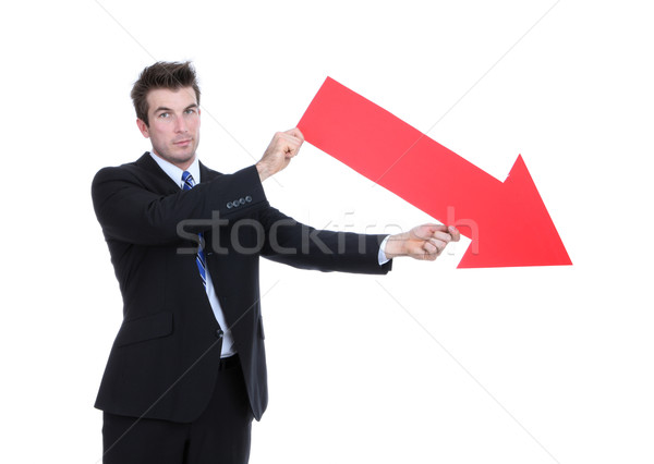 Business Man Arrow Down Stock photo © nruboc