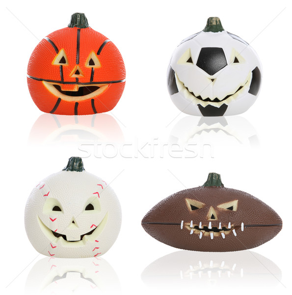 Halloween Sports Pumpkins Stock photo © nruboc