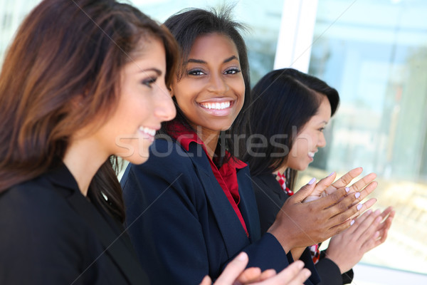Diverse Business Team Clapping Stock photo © nruboc