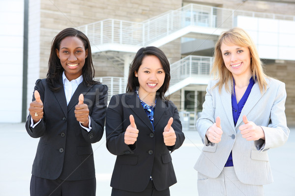 Diverso étnico equipe de negócios atraente mulher de negócios equipe Foto stock © nruboc
