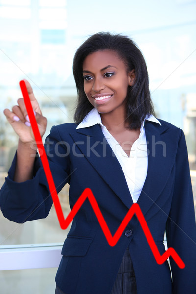 Woman Making Graph Chart Stock photo © nruboc