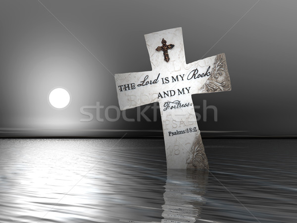 Religious Cross in Water Stock photo © nruboc