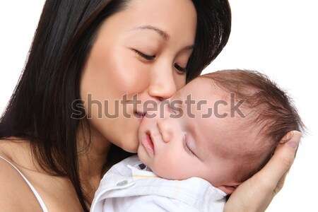 Mother Holding Young Son Stock photo © nruboc
