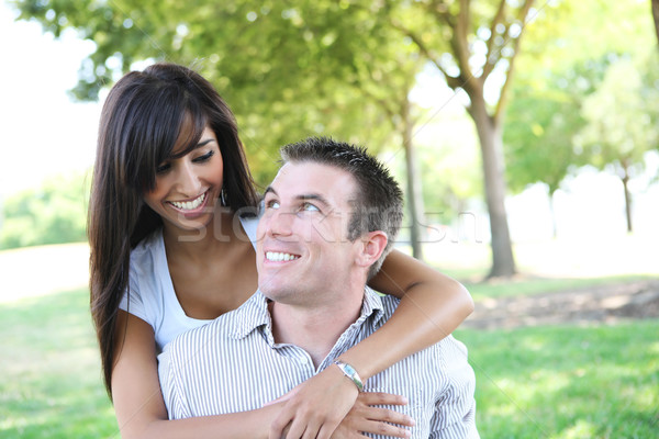 Attractive Couple in Park Stock photo © nruboc