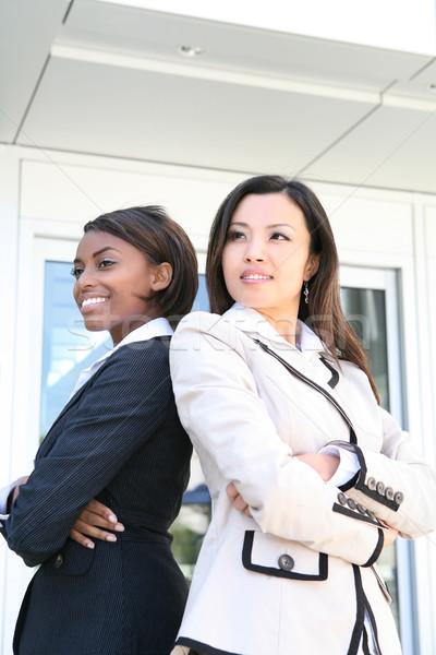 деловой женщины команда успешный азиатских африканских бизнес-команды Сток-фото © nruboc
