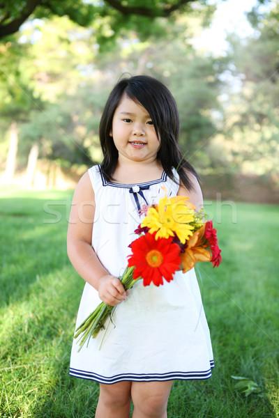 かわいい 少女 花 小さな アジア ストックフォト © nruboc