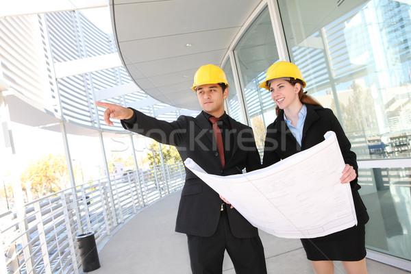 Сток-фото: бизнес-команды · служба · строительная · площадка · привлекательный · рабочих · строительство