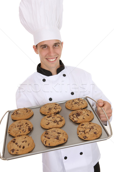 Handsome Man Chef with Cookies Stock photo © nruboc